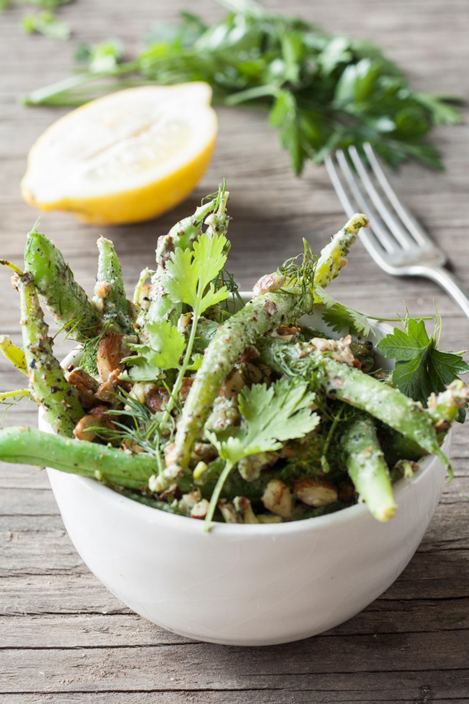 Green Bean Salad With Herbed Tahini