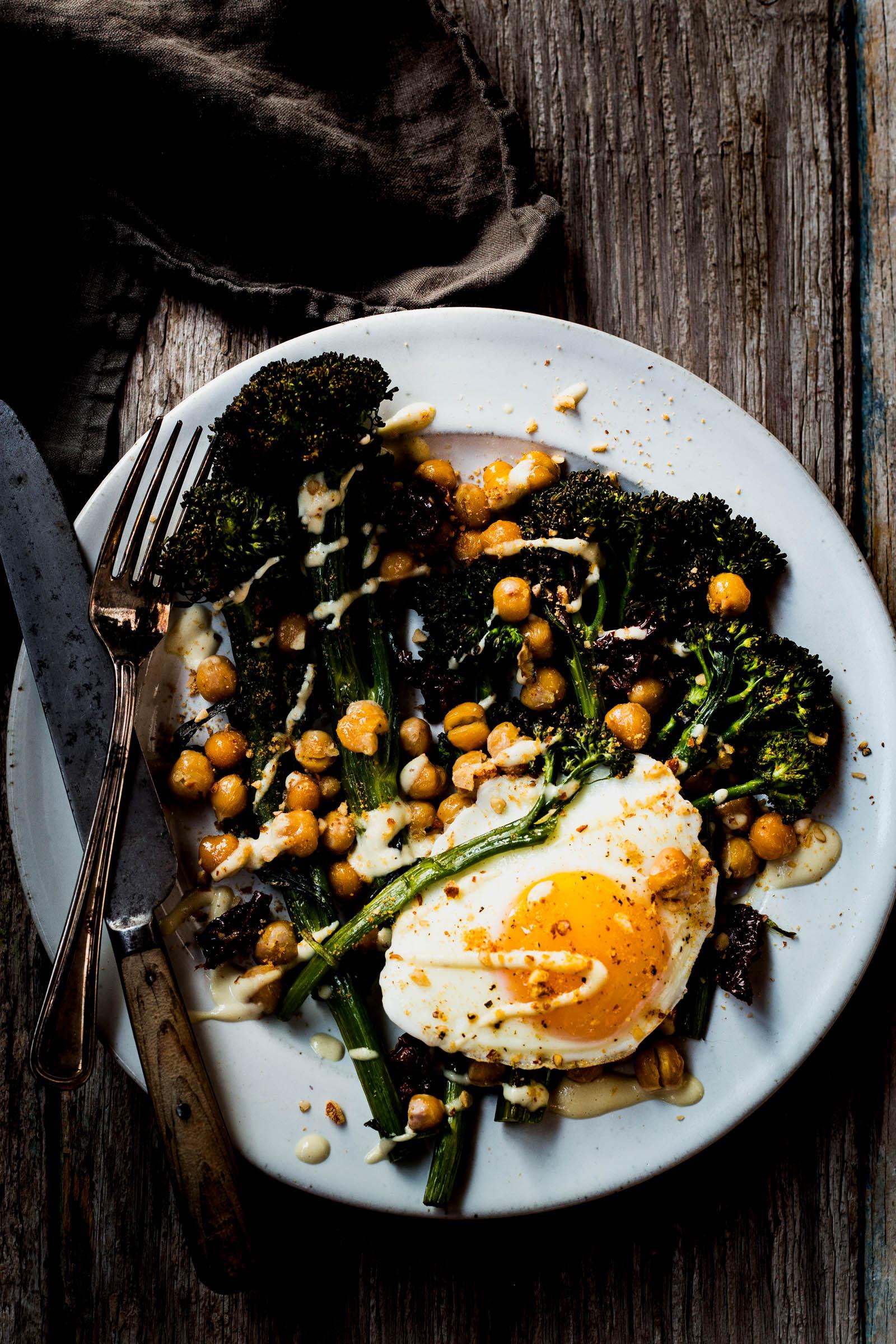 Crispy Broccolini & Chickpea Salad  (use the broccoli in place of the broccolini)