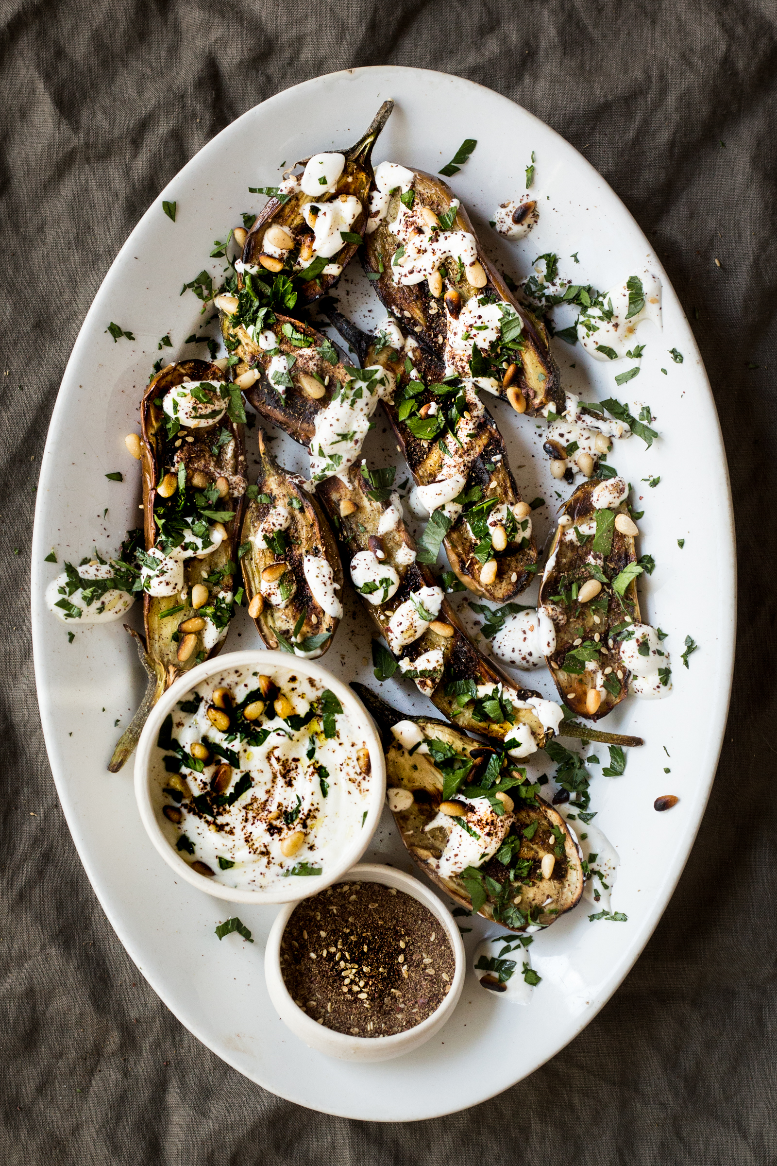 Grilled Eggplant with Yogurt and Za'atar