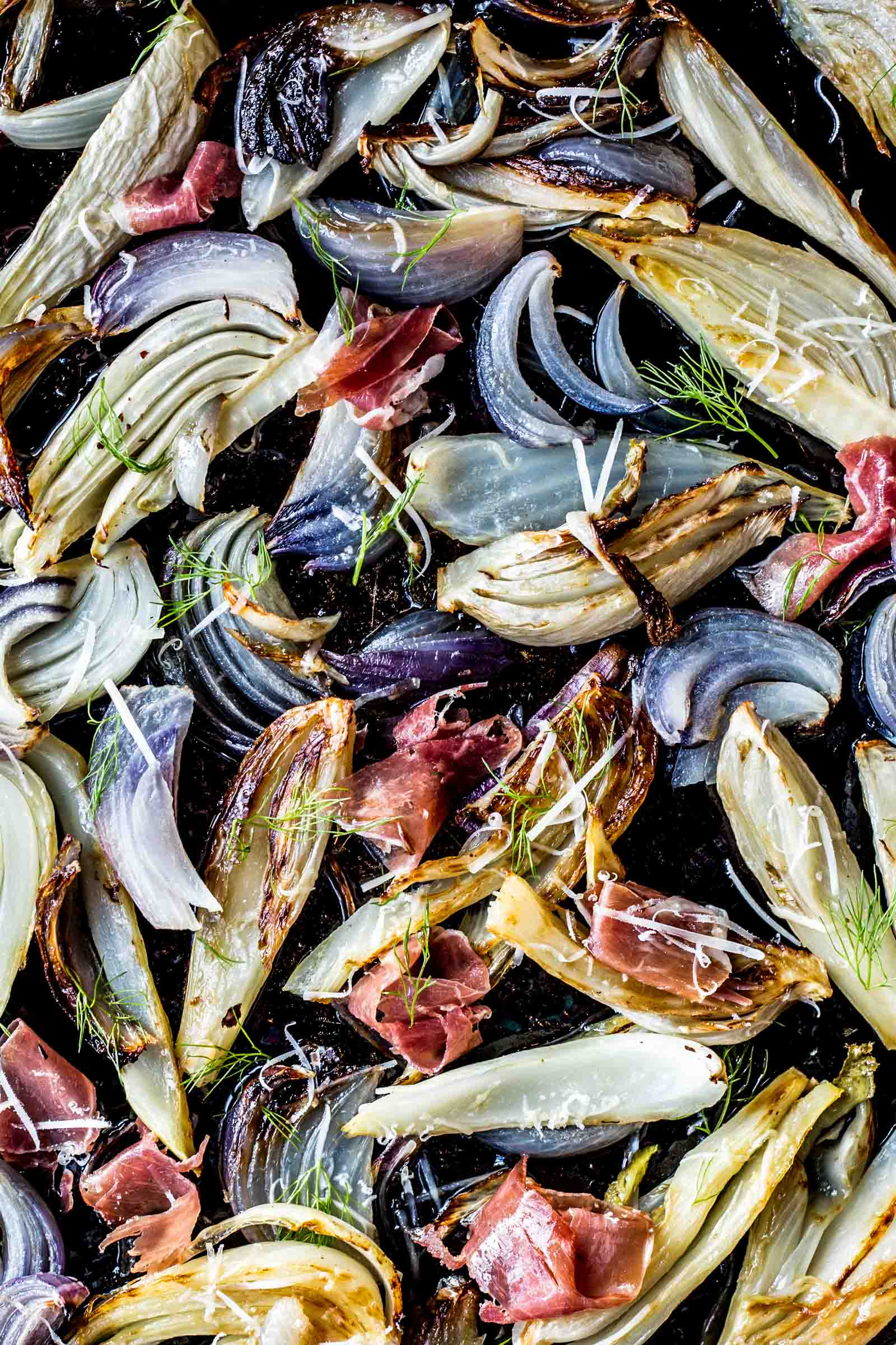 Roasted Fennel and Onions with Prosciutto