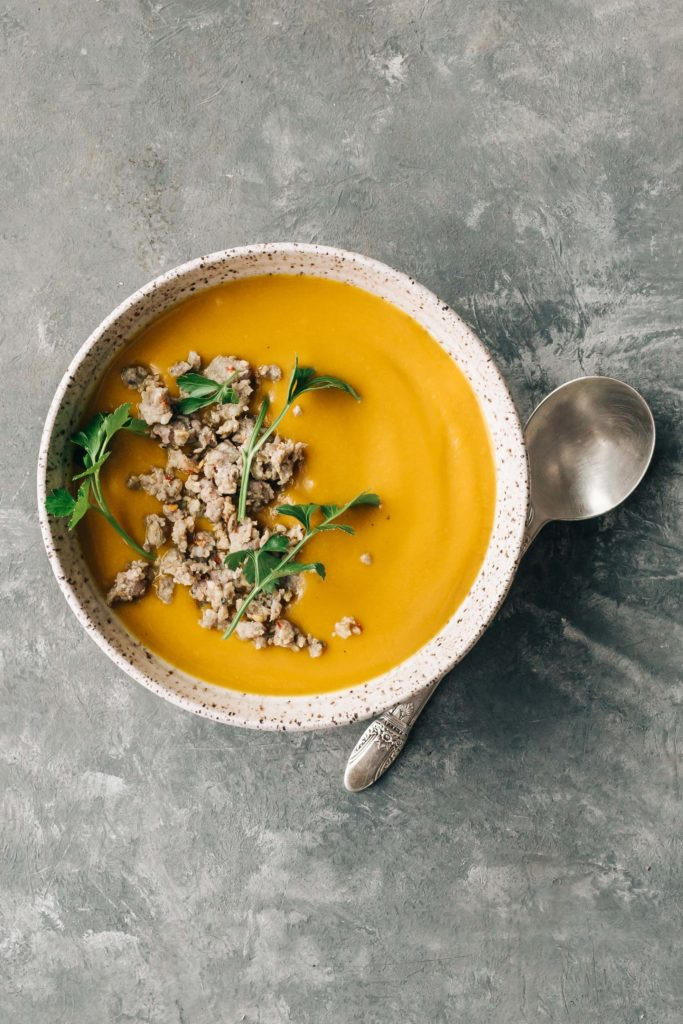 Chipotle Pumpkin Soup   (the recipe calls for butternut squash but pumpkin works too!)