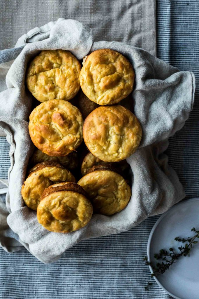 Honey and Thyme Parsnip Muffins