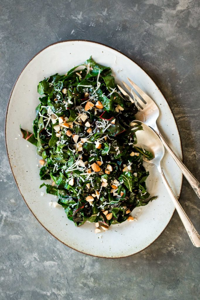 Lemon Garlic Swiss Chard Salad