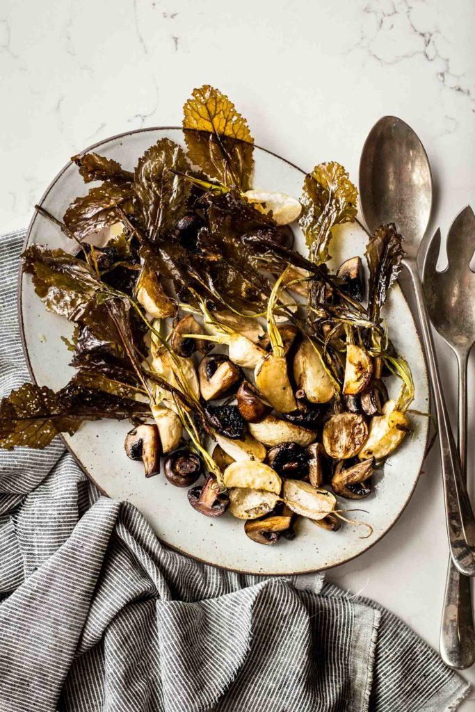 Roasted Turnips & Mushrooms