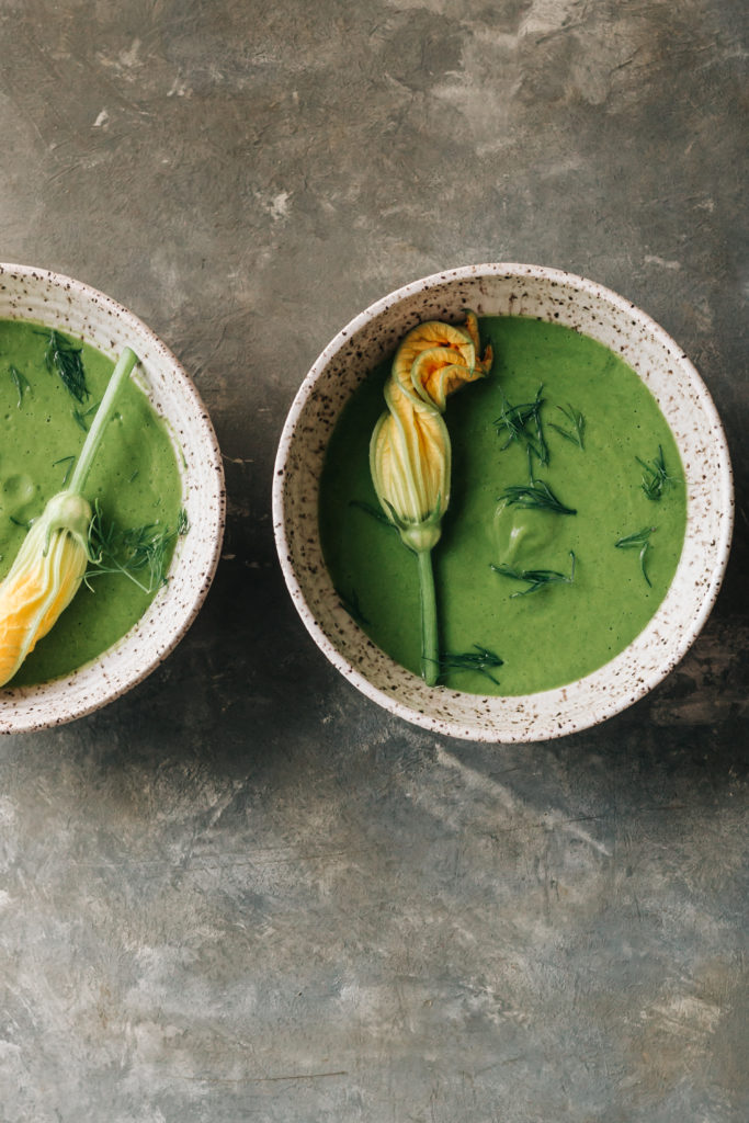 Simple Zucchini and Leek Soup