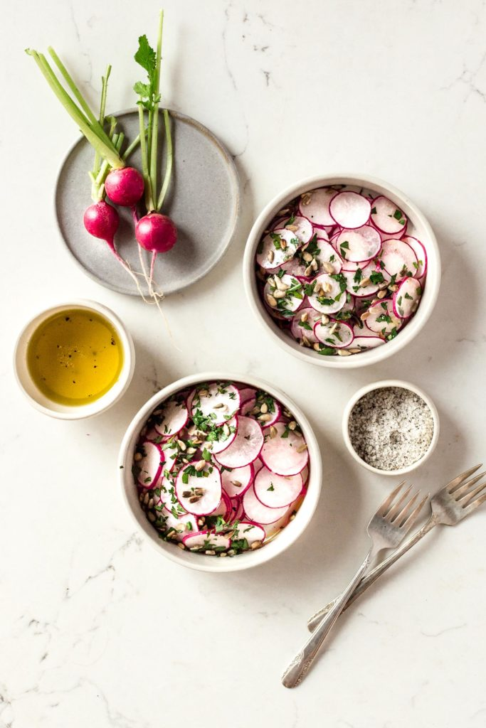Simple Radish & Herb Salad