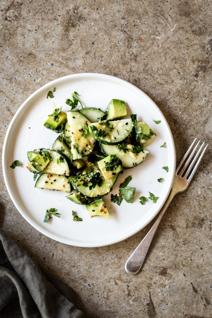 Sesame Miso Cucumber Salad