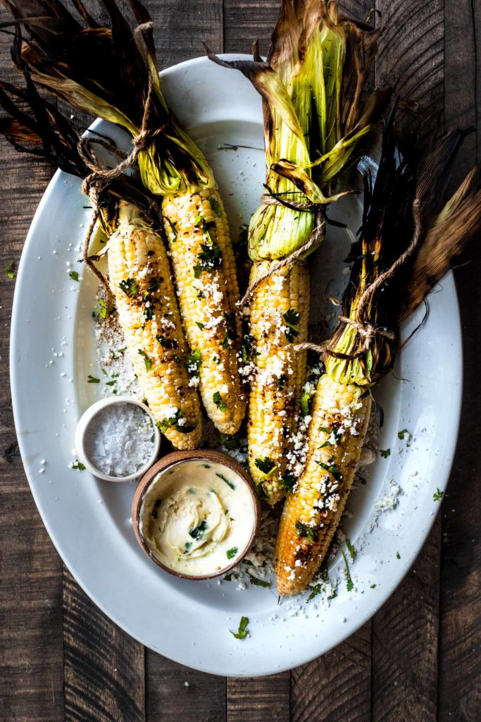 Grilled Corn with Jalapeno Honey Butter