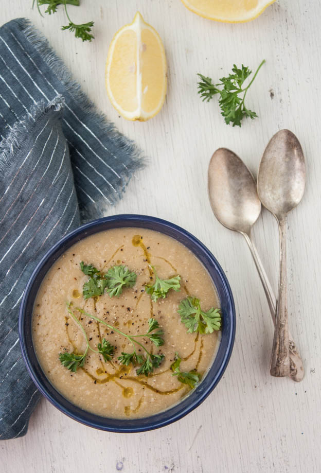 Roasted Eggplant and White Bean Soup