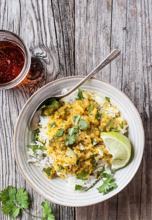 Zucchini Red Lentil Curry