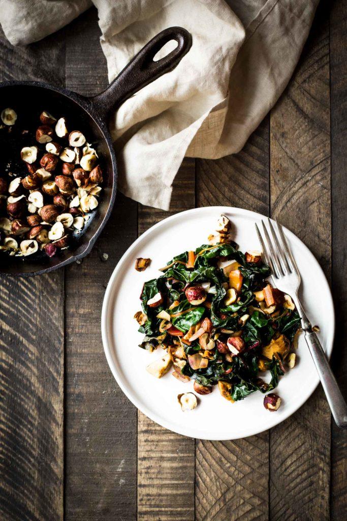 Swiss Chard Salad with Hazelnuts & Mushrooms  (this is SO good!)