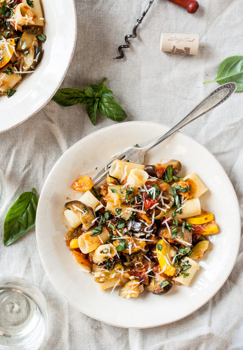 Summer Harvest Ratatouille Pasta Bowls