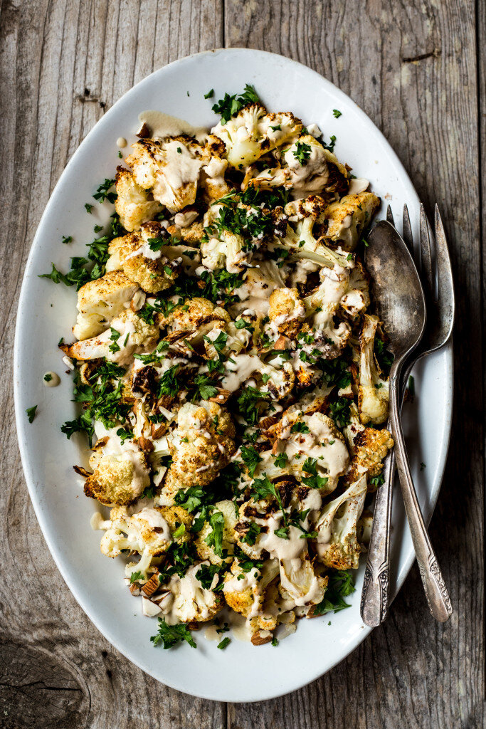 Spiced Cauliflower with Tahini Sauce