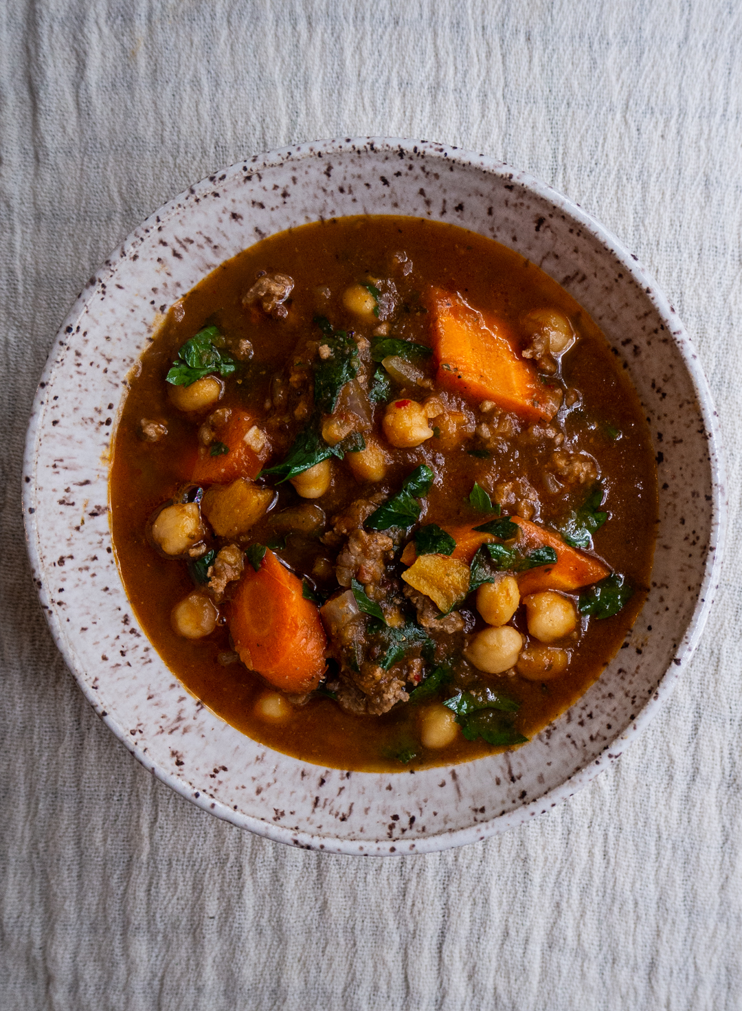 Moroccan Lamb Chili with Carrots & Chickpeas