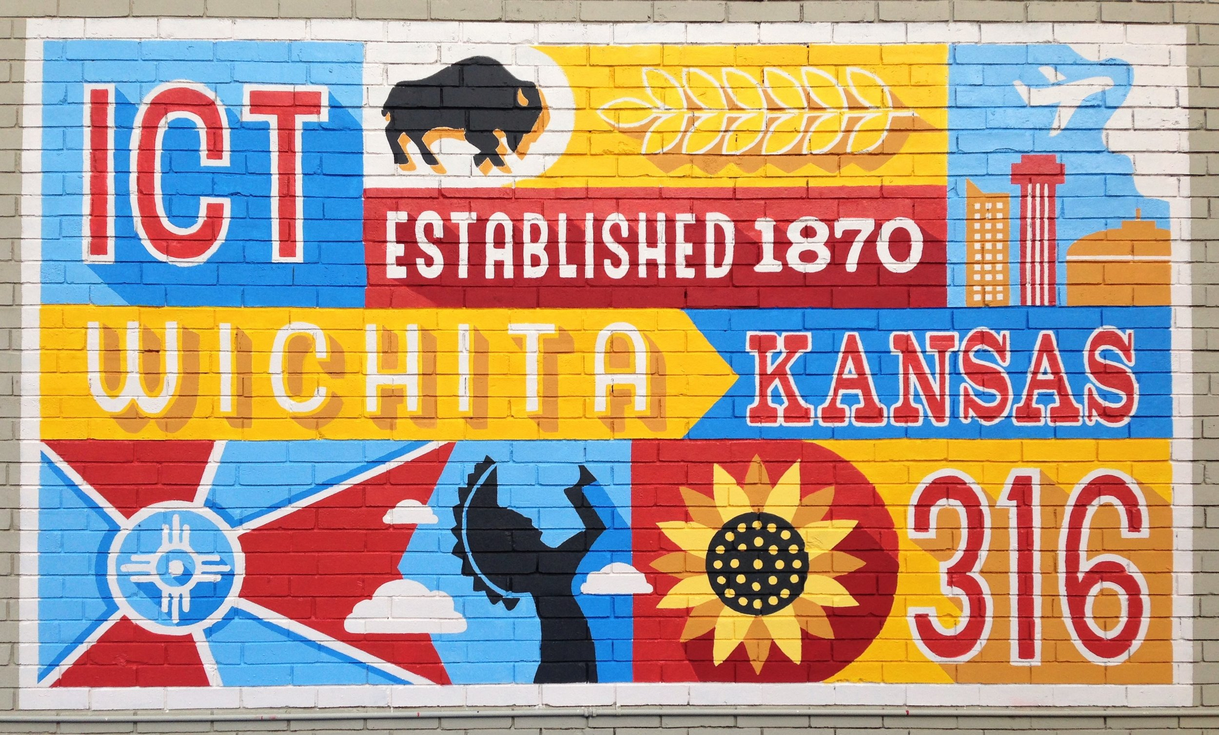 """Wichita"" Lupoli / Community Mural, 2016; College Hill Deli."