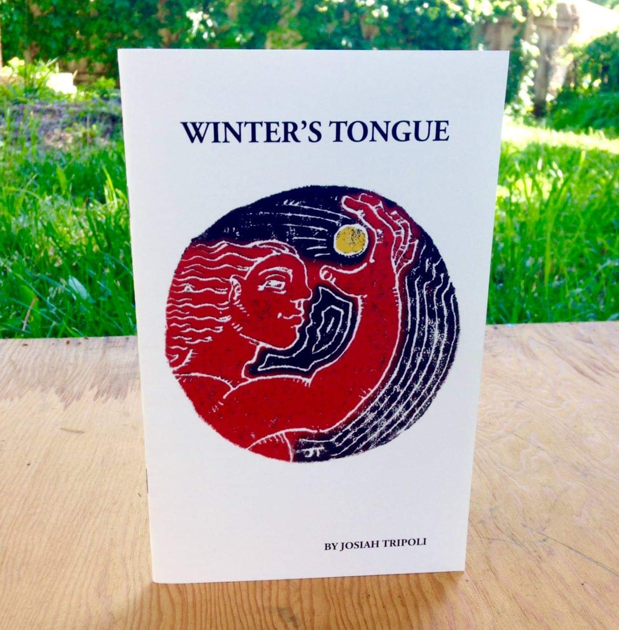 """Winter's Tongue (chapbook)"" Lupoli Collective / Josiah Tripoli, 2017, digital print."