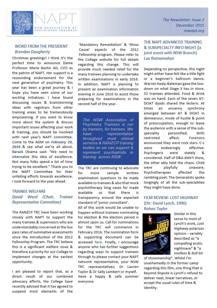 Newsletter #2 Dec 2015 Page 1