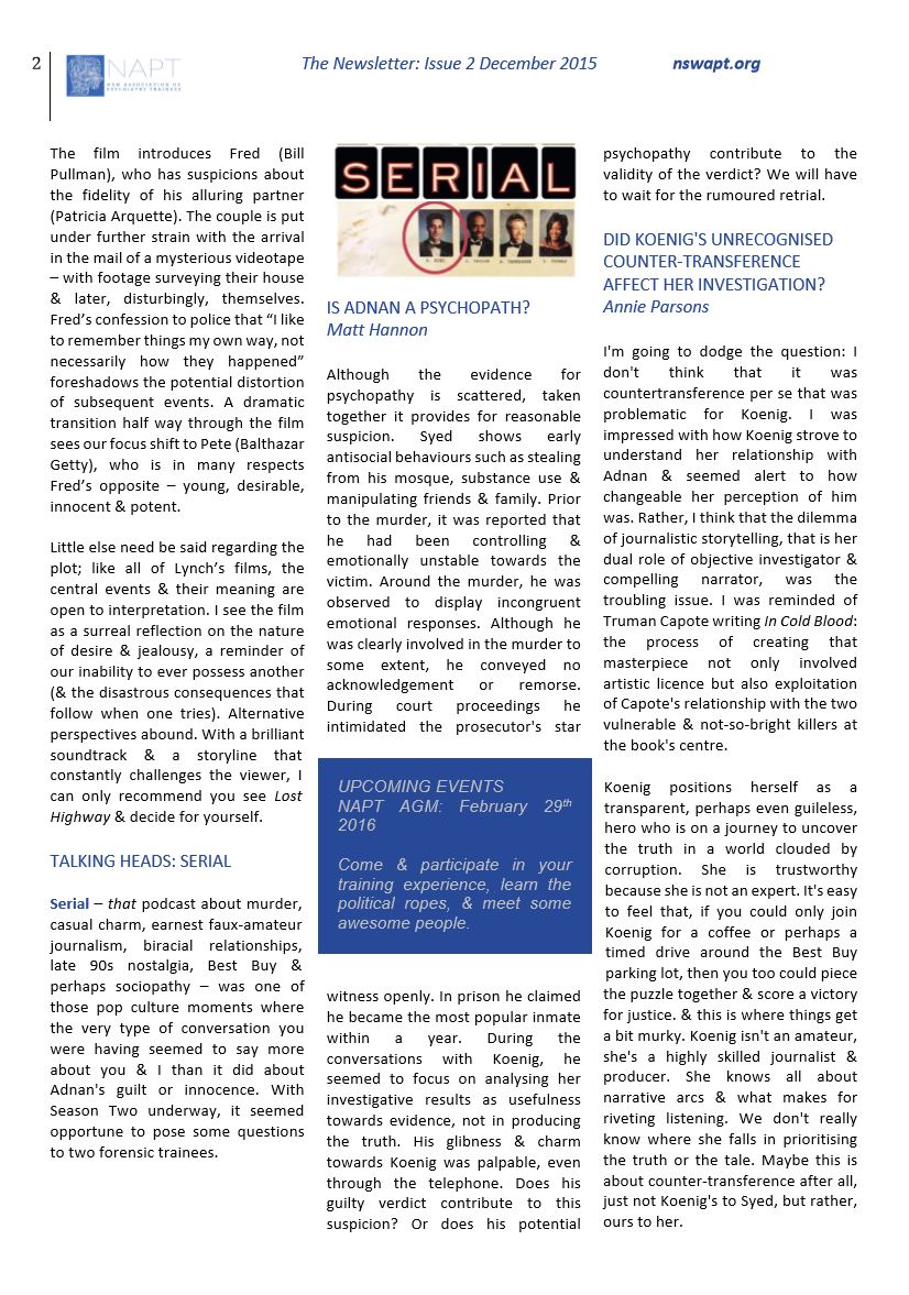 Newsletter #2 Dec 2015 Page 2