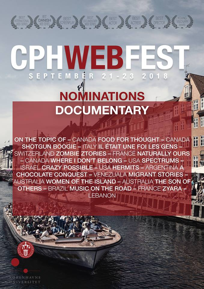 CRAZY POSSIBLE NOMINATED FOR BEST DOC COPENHAGEN WEB FEST, YAY!