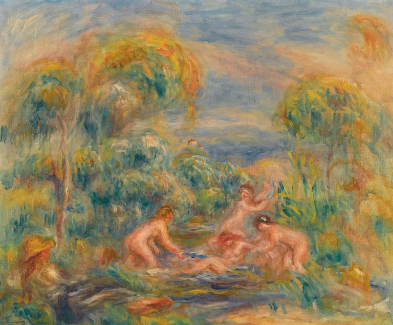 """Pierre-Auguste Renoir, """"Étude De Baigneuses"""""""