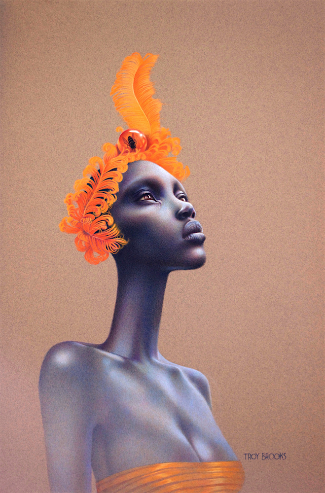"""Lion's Ear  18"""" x 12"""" • Polychromos Coloured Pencil on tinted Strathmore Paper"""