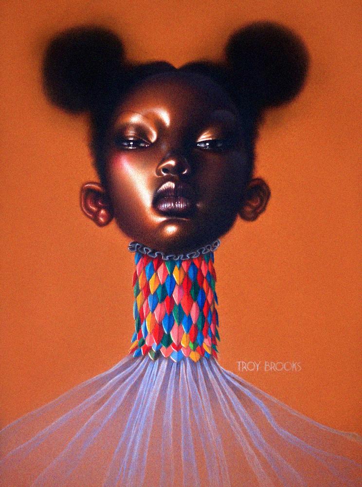 "Untitled  12"" x 9"" • Polychromos Coloured Pencil on 98 lb tinted Mi-Tientes Pastel Paper"