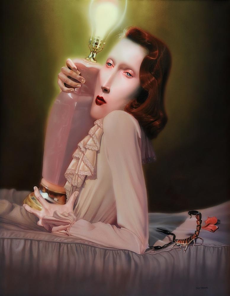 """Lady Lazarus""  28"" x 22"" • Oil on canvas  2011"