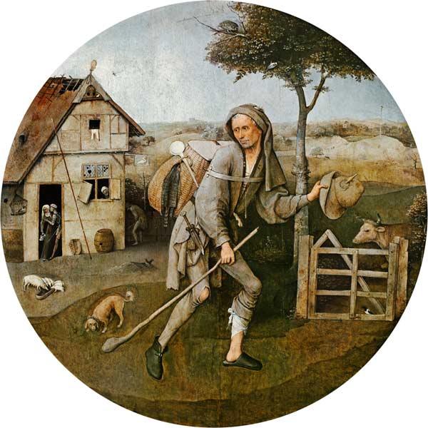 Hieronymus Bosch's 1510 painting - The Wayfarer