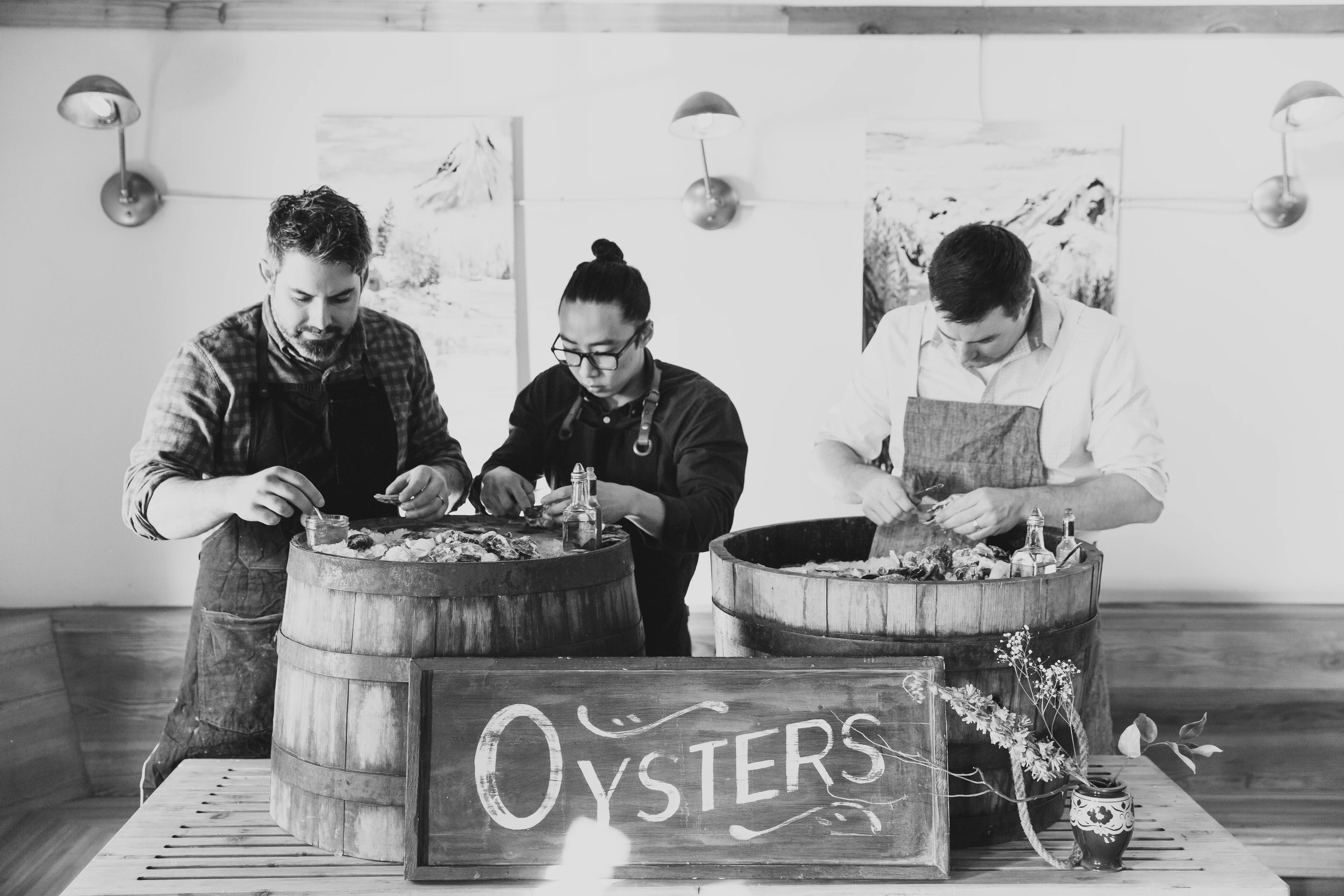 The Wayfarer Oyster House is Andrew Seymour, Brian Ng, Eddie Rideout (Left to Right)