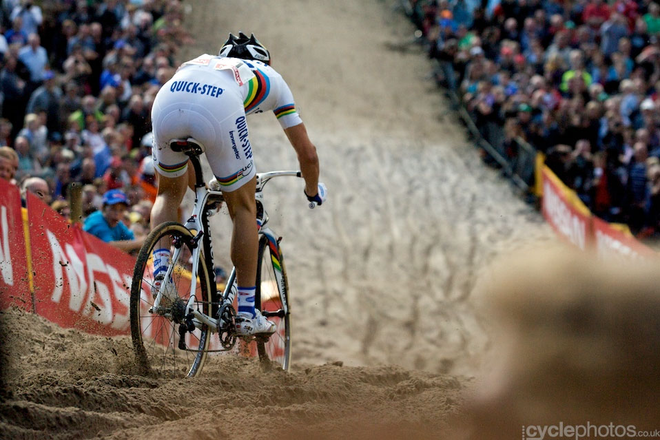 Downhills can be scary. Especially in Zonhoven.