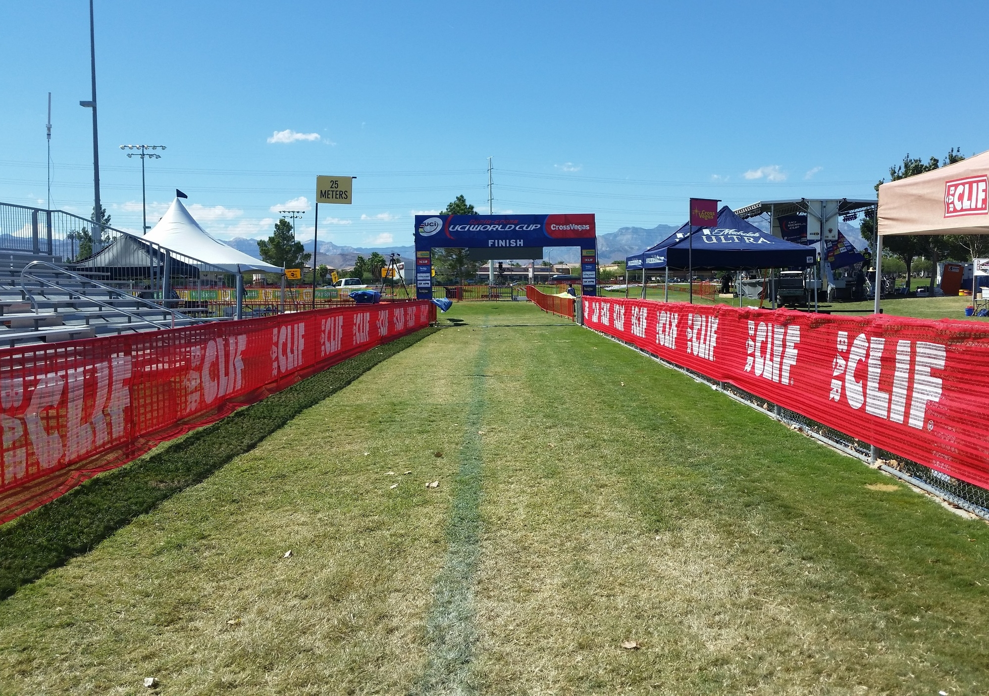 It's empty now but the crowds packed the house for Cross Vegas 2015
