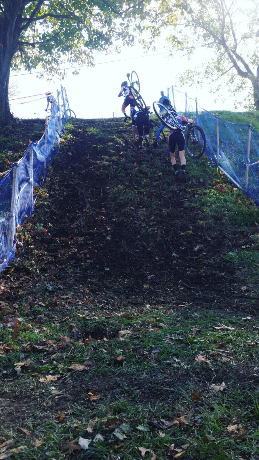 The hills were steep!