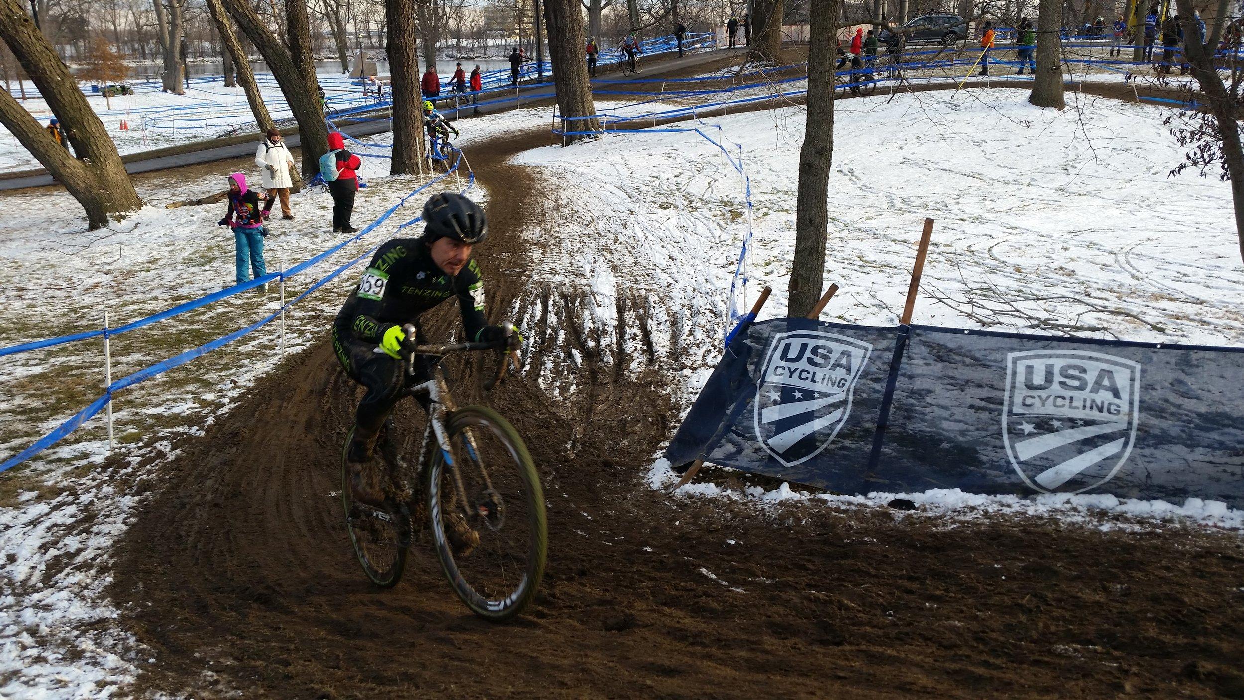 Mark Rawlings sliding through the mud