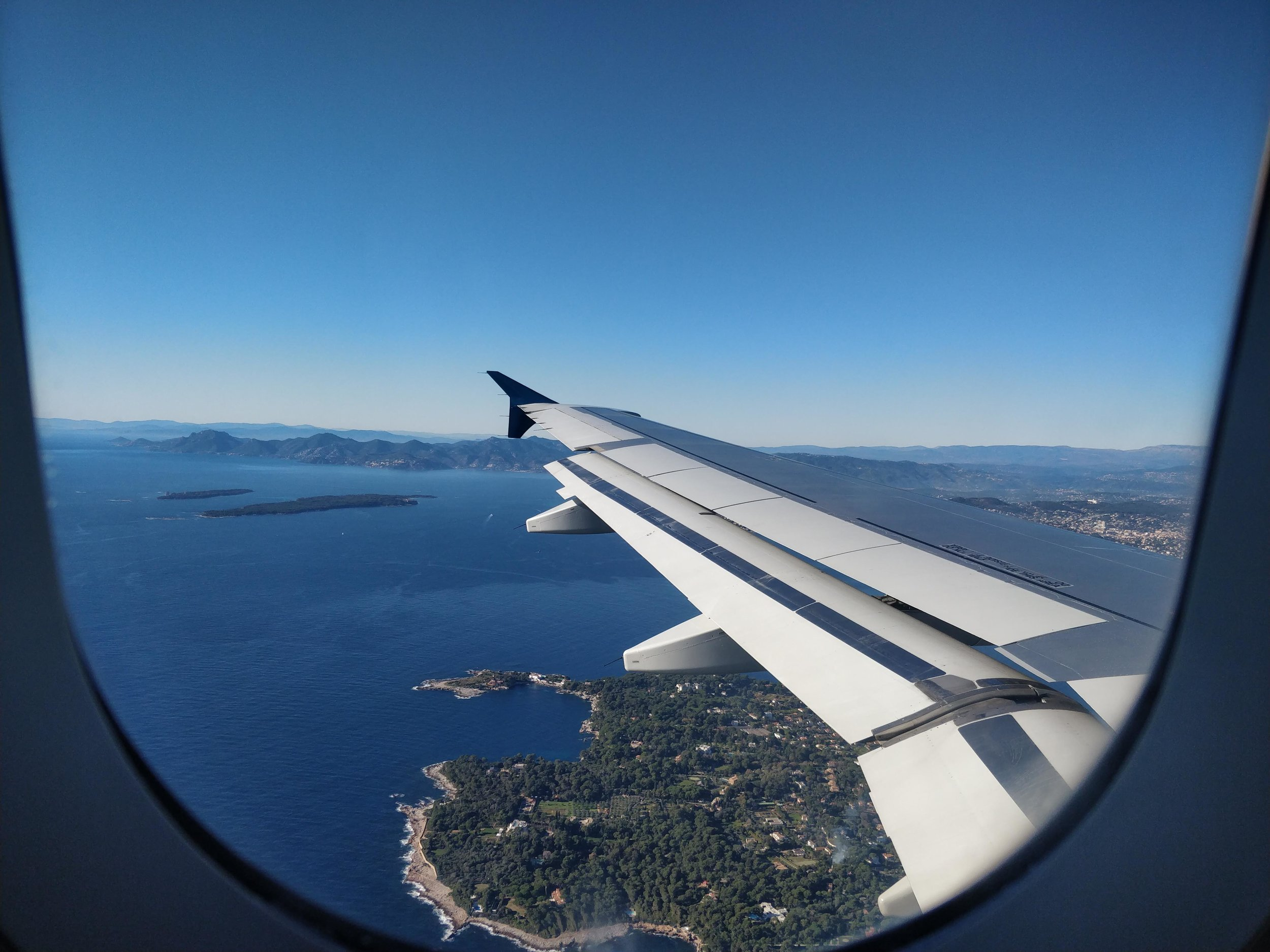 obligatory airplane wing photo.