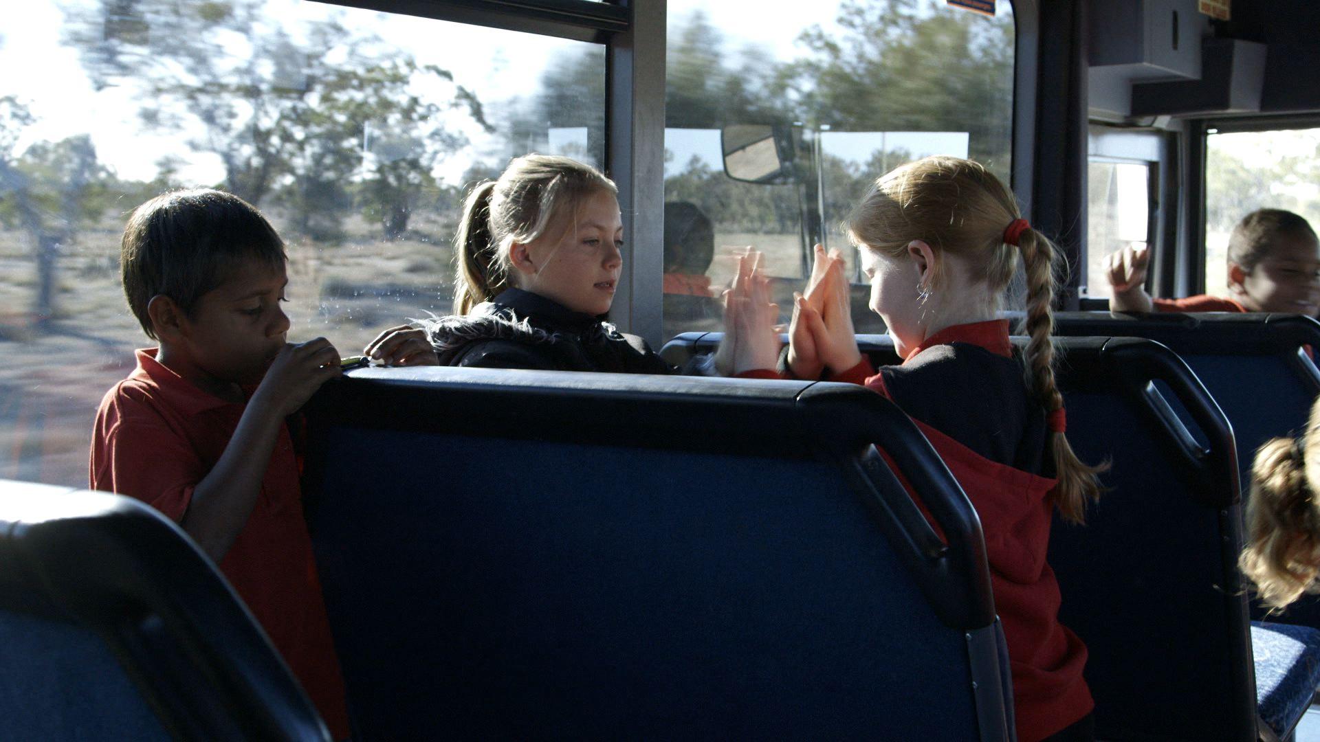 Opal on the bus