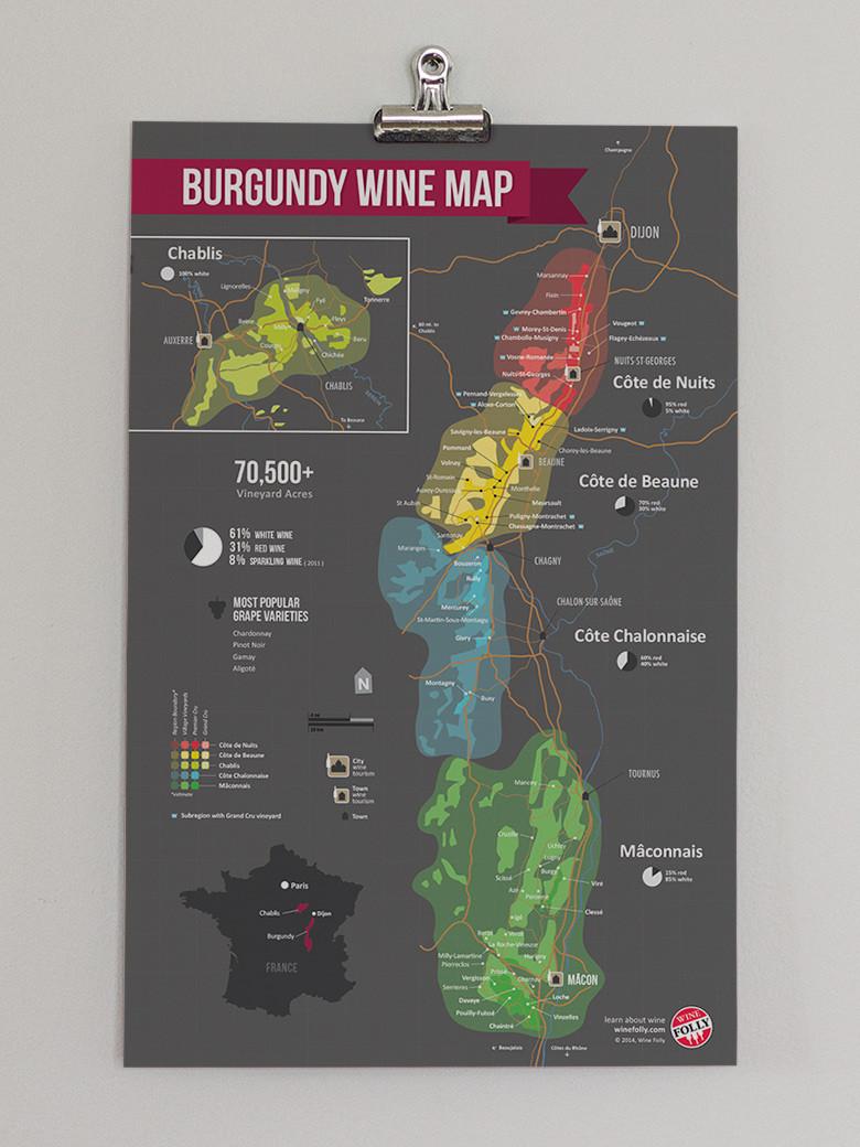 Map of Burgundy (Via Winefolly.com)