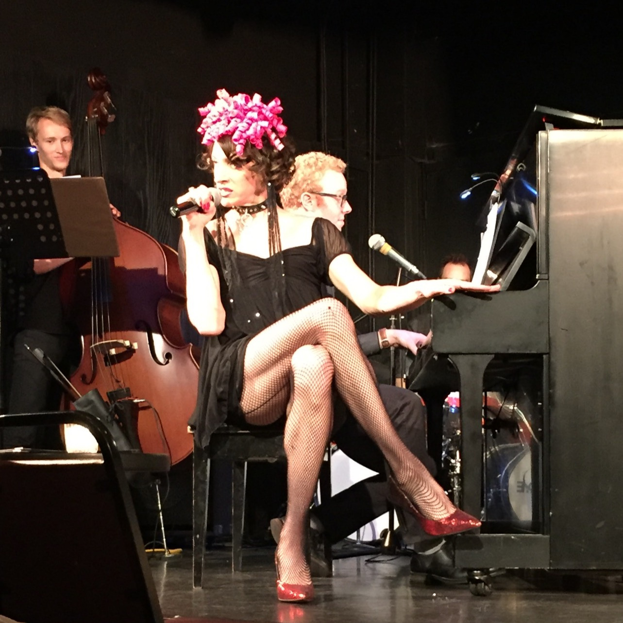 Mistress Ginger in the 2016 biopic cabaret spectacular,  Hello My Name Is Mistress Ginger