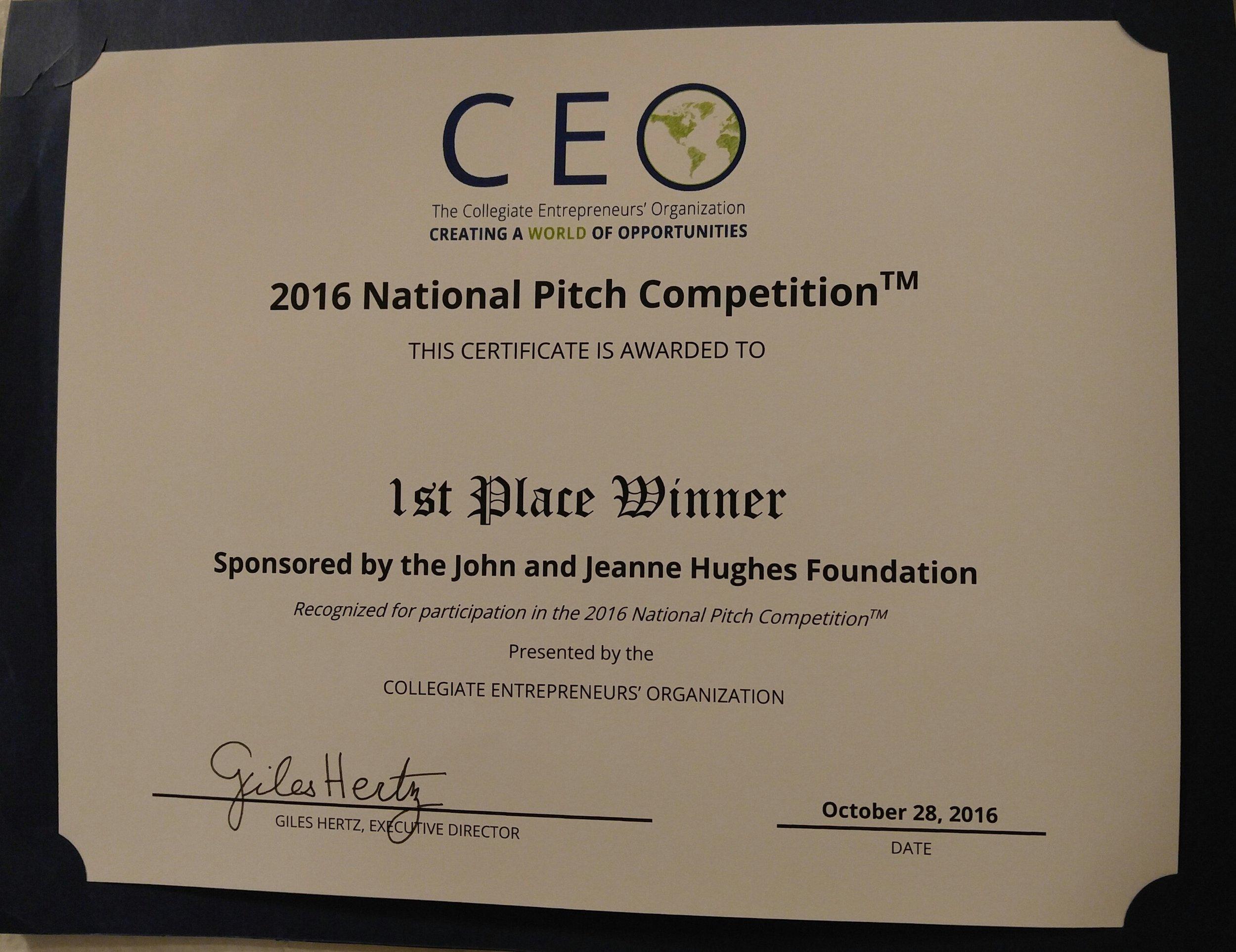 Seed Slide CEO Award