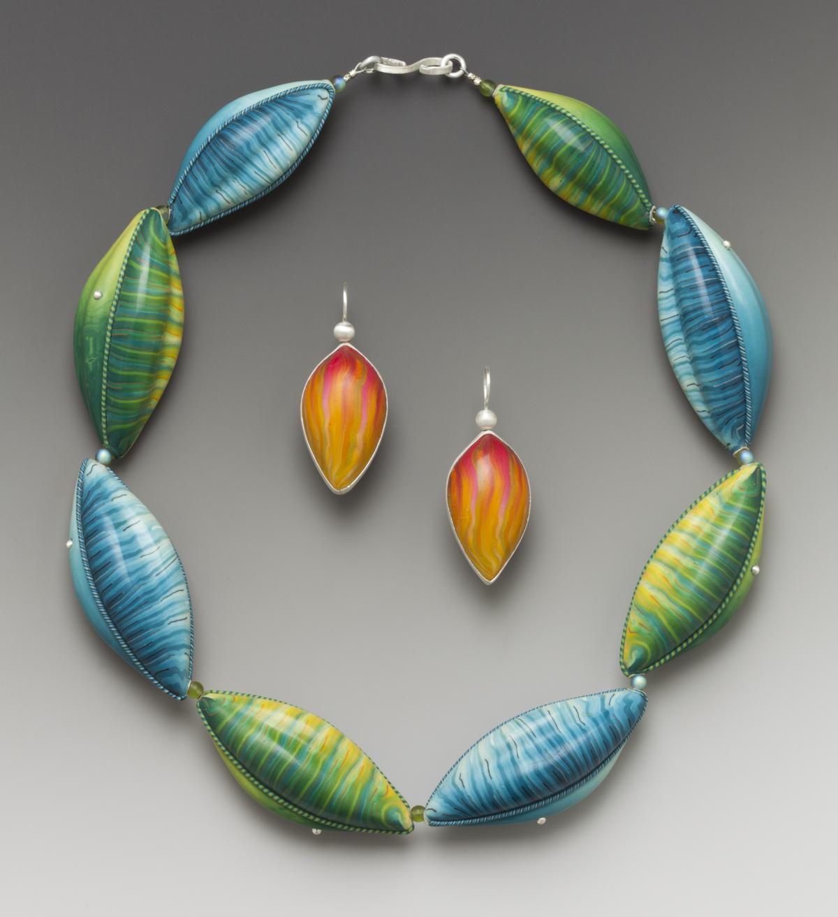 Blue/Green Leaf necklace   2006