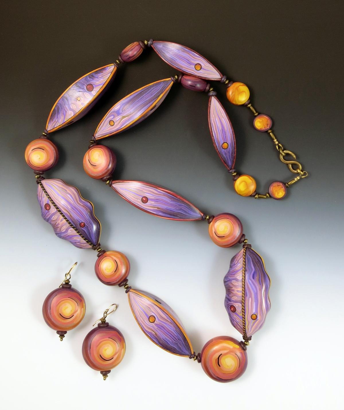 Big Purple Necklace    2015