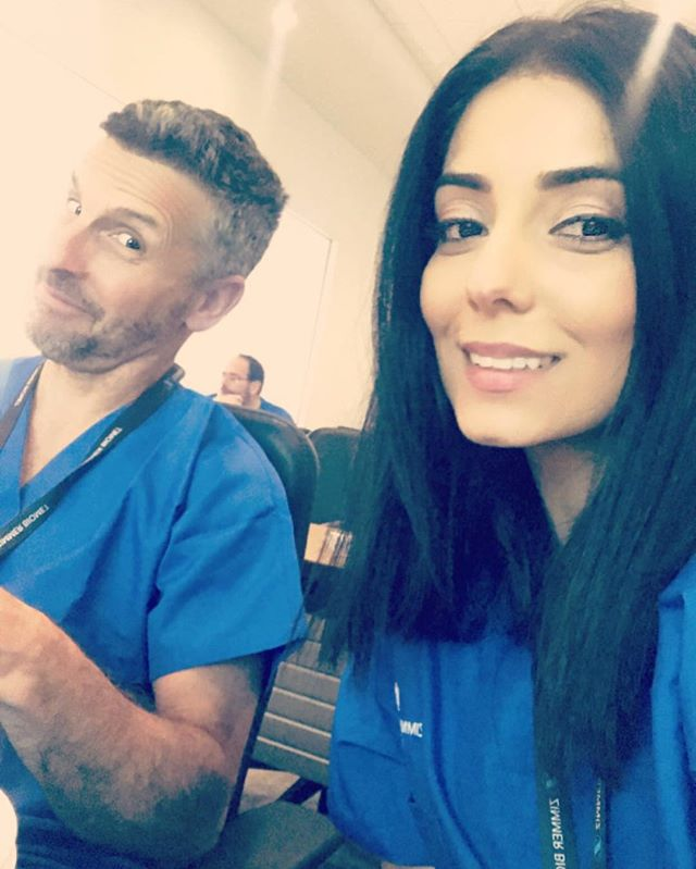 Dr. Wolf and Dr. Moeini at #zimmerbiomet getting the latest info and training on advanced dental implant restorations. #dentalteam