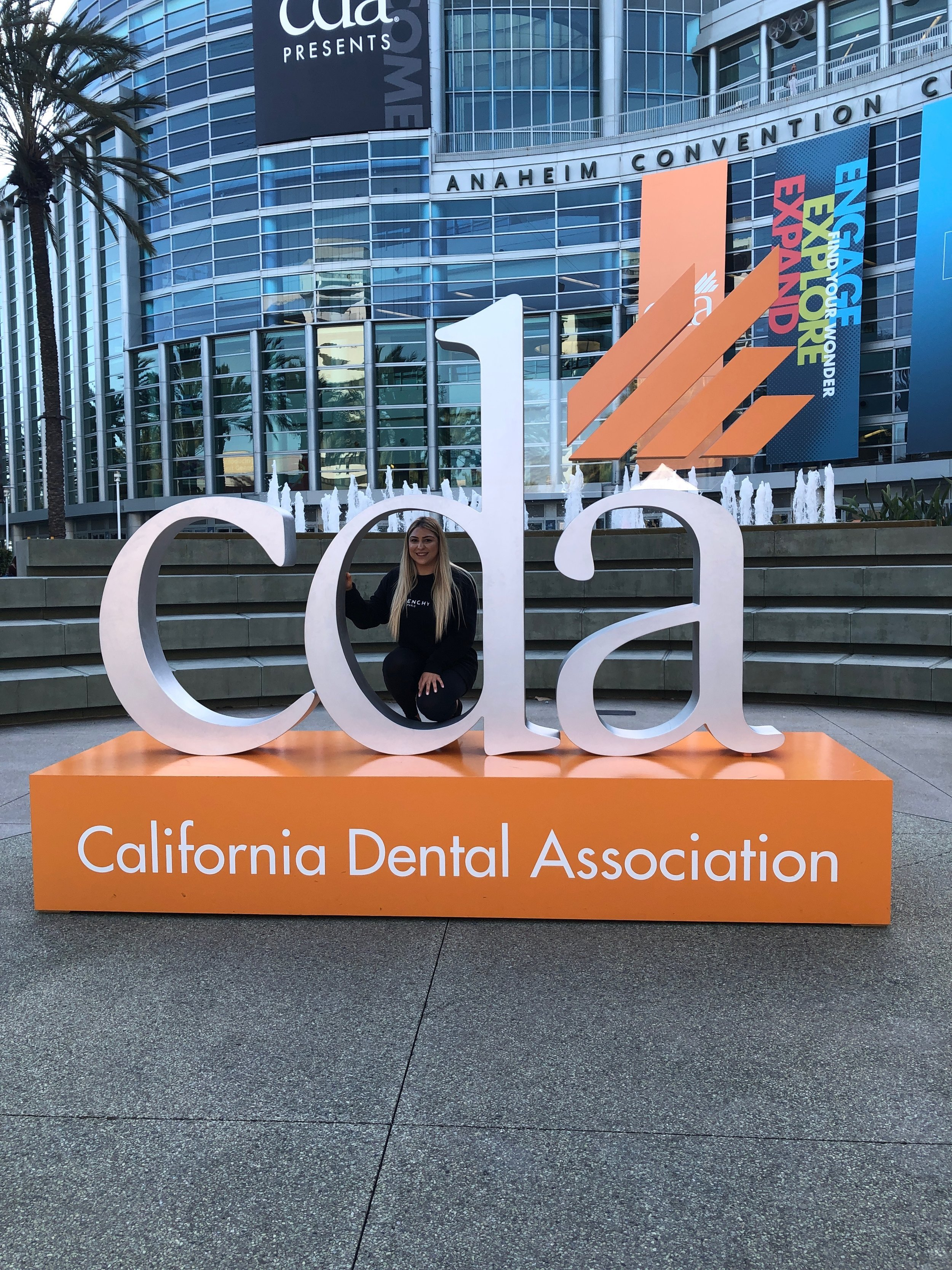 Our hygienist, Artemis ready for  #cdaANA
