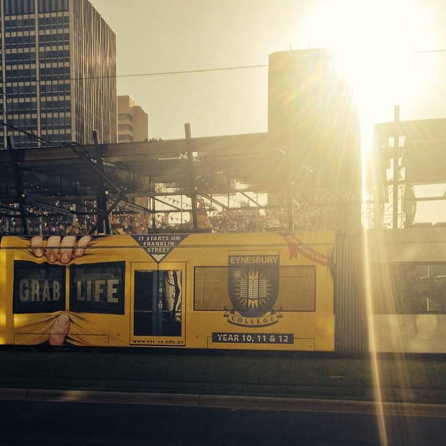 'Grab Life' Eynesbury Tram Advertising