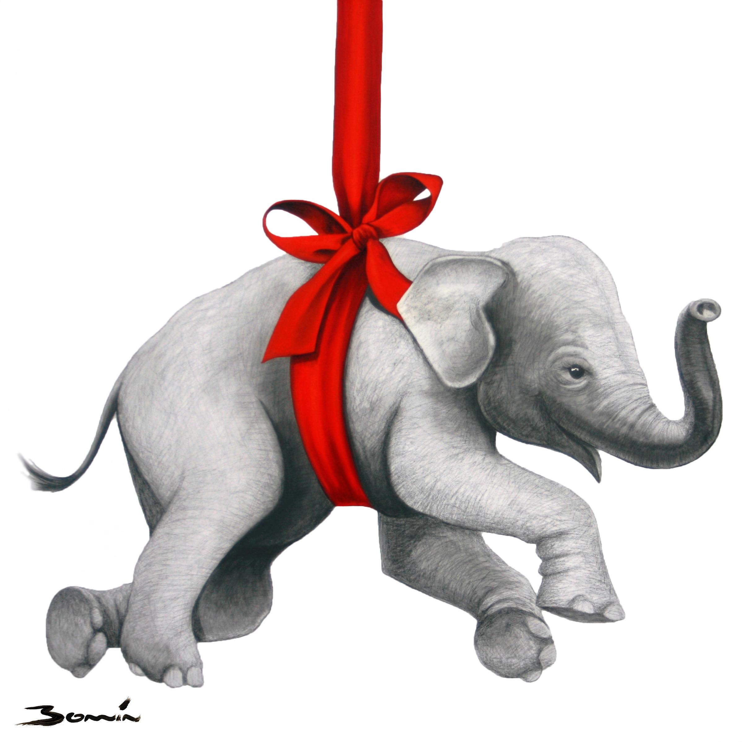Swinging Baby Elephant