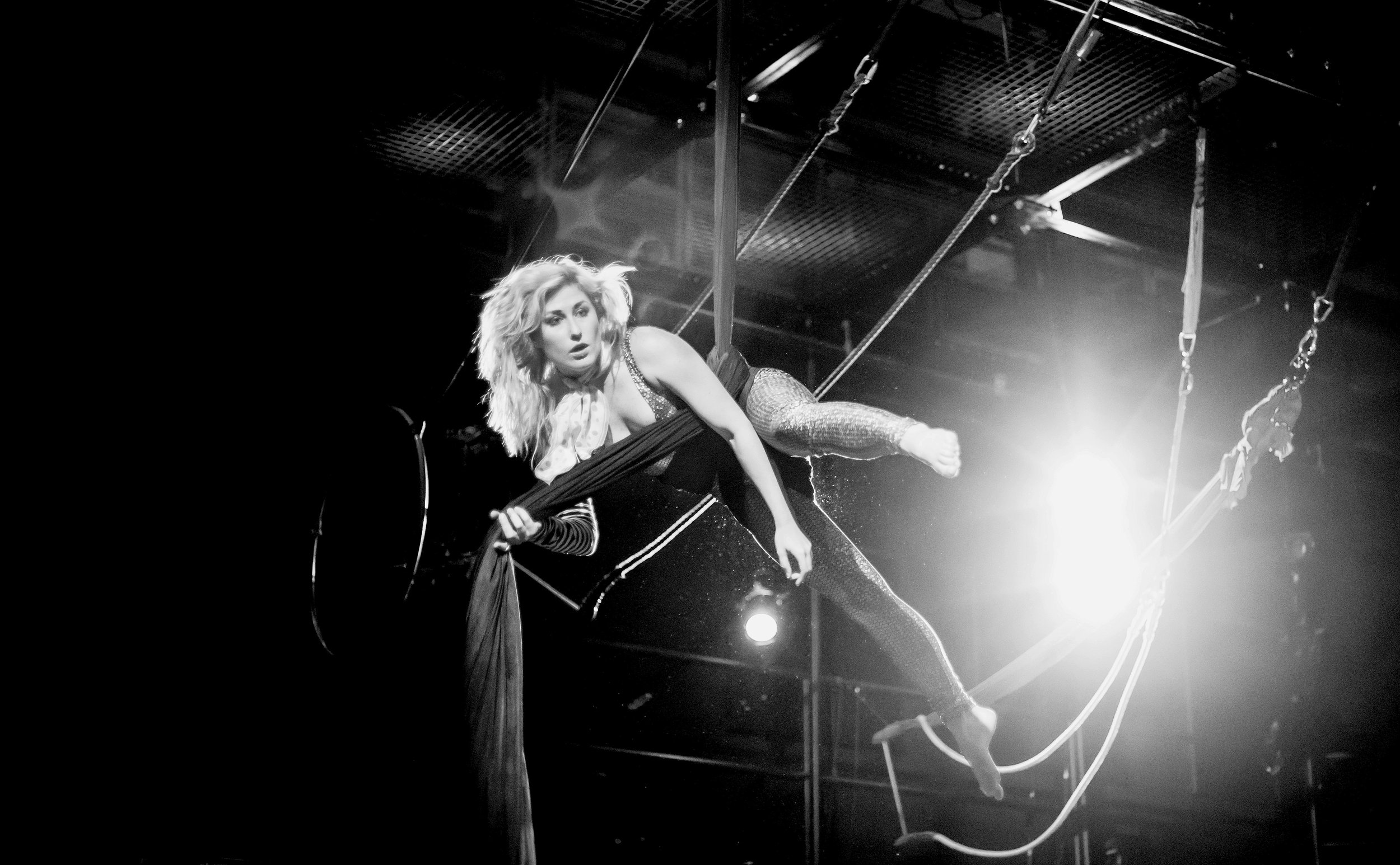 Benni Croft   Benni's beginnings in dance and theater go many years back. Theater, music, and dance have always been held close to her heart. She expresses these passions in her adult life through Aerials, Hoop, and other related expressions of performance and dance.