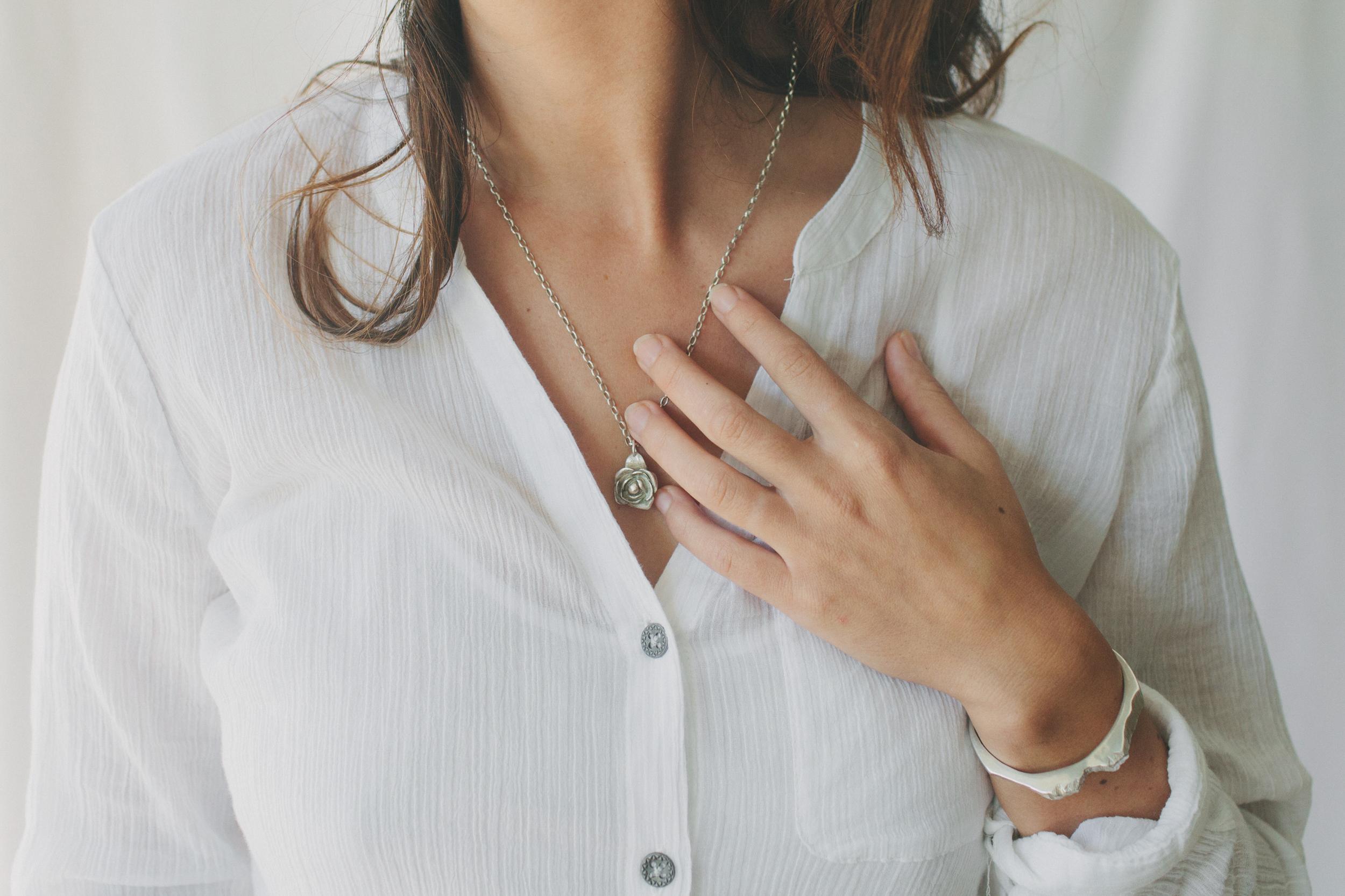 Lady Rose Necklace, Valleys & Peaks Bracelet