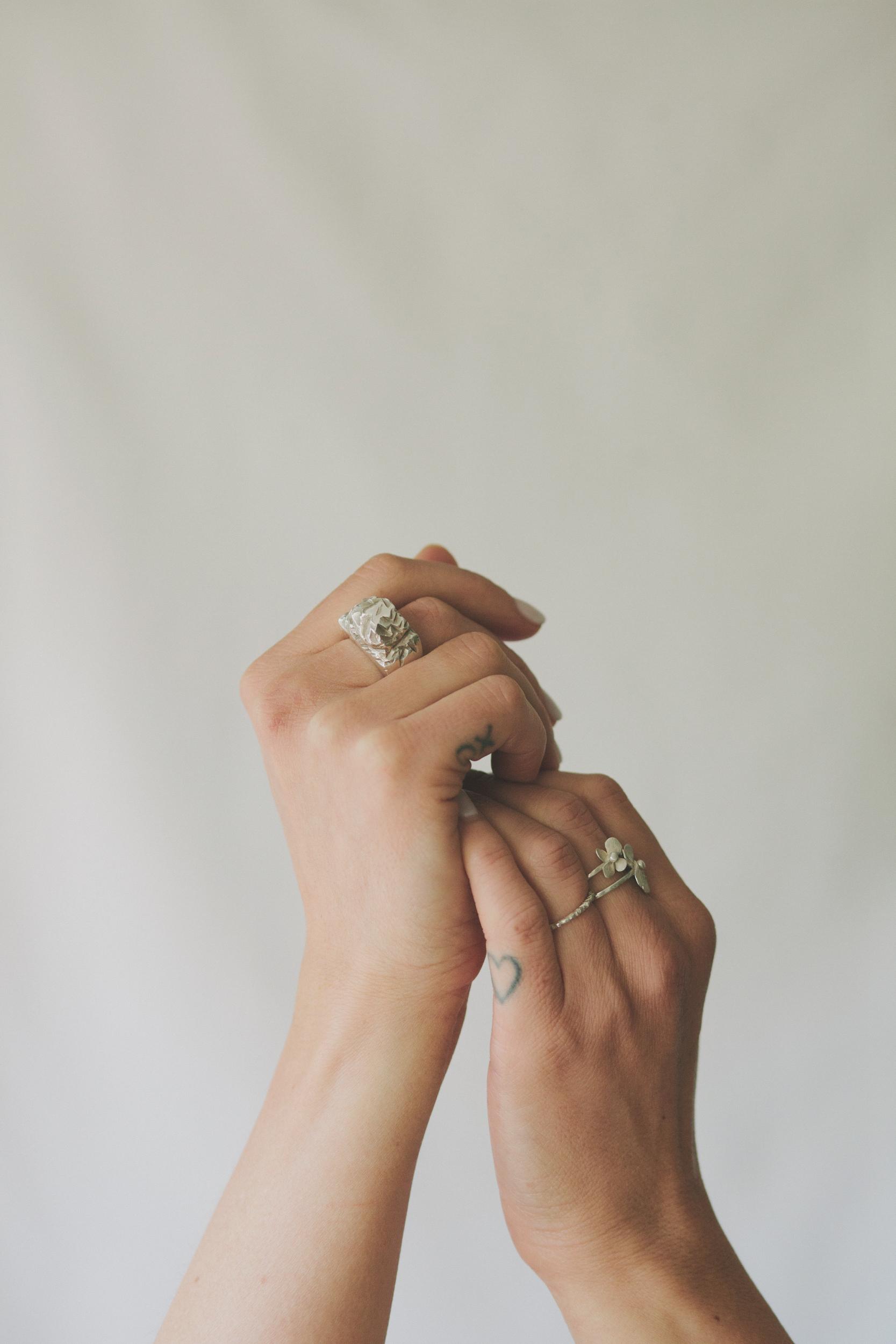 Mountain Ring, Mountain Stacker & Pocket Full of Posies Ring