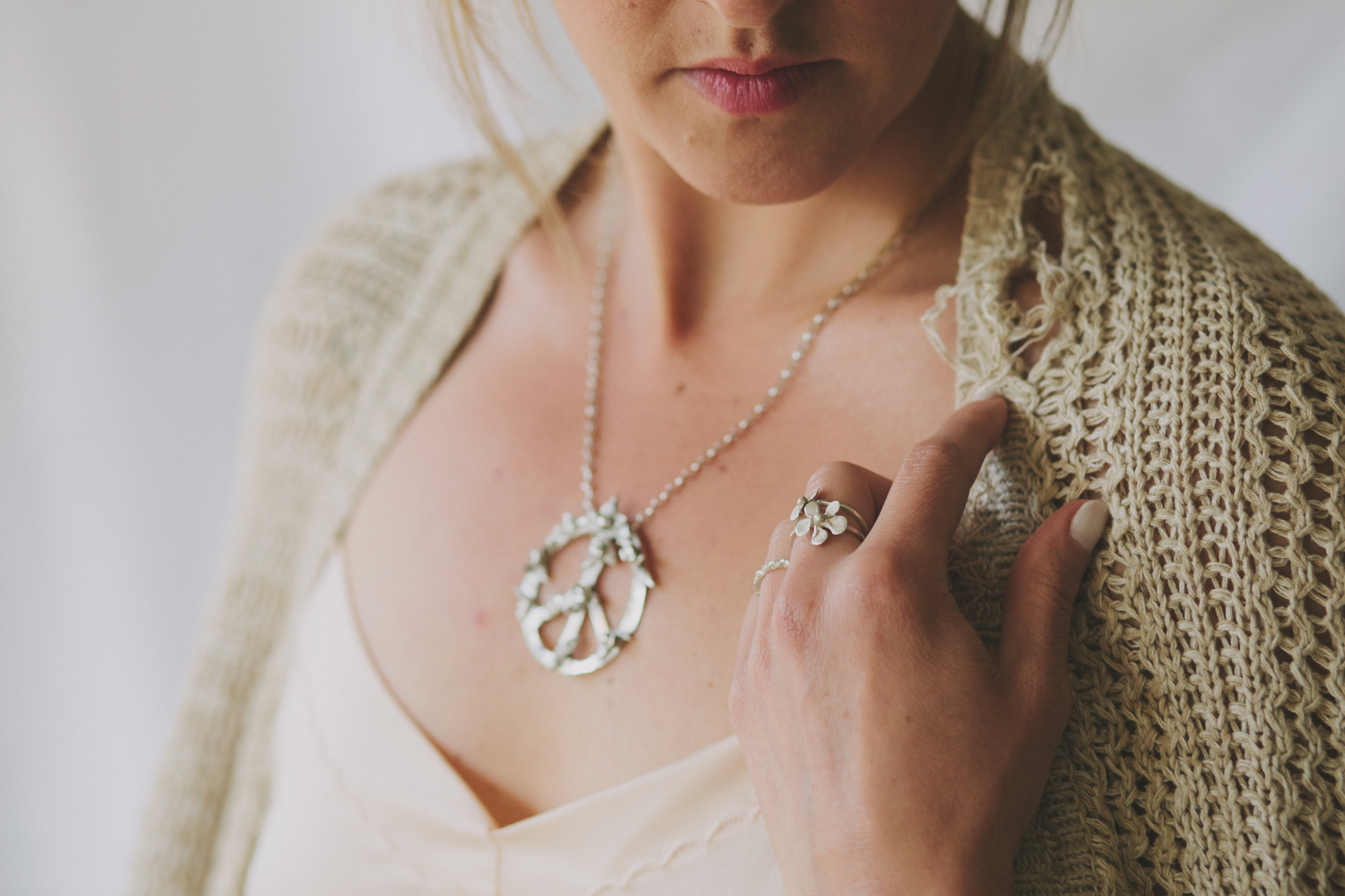 What The World Needs Now Necklace, Mountain Stacker, Pocket Full of Posies Ring