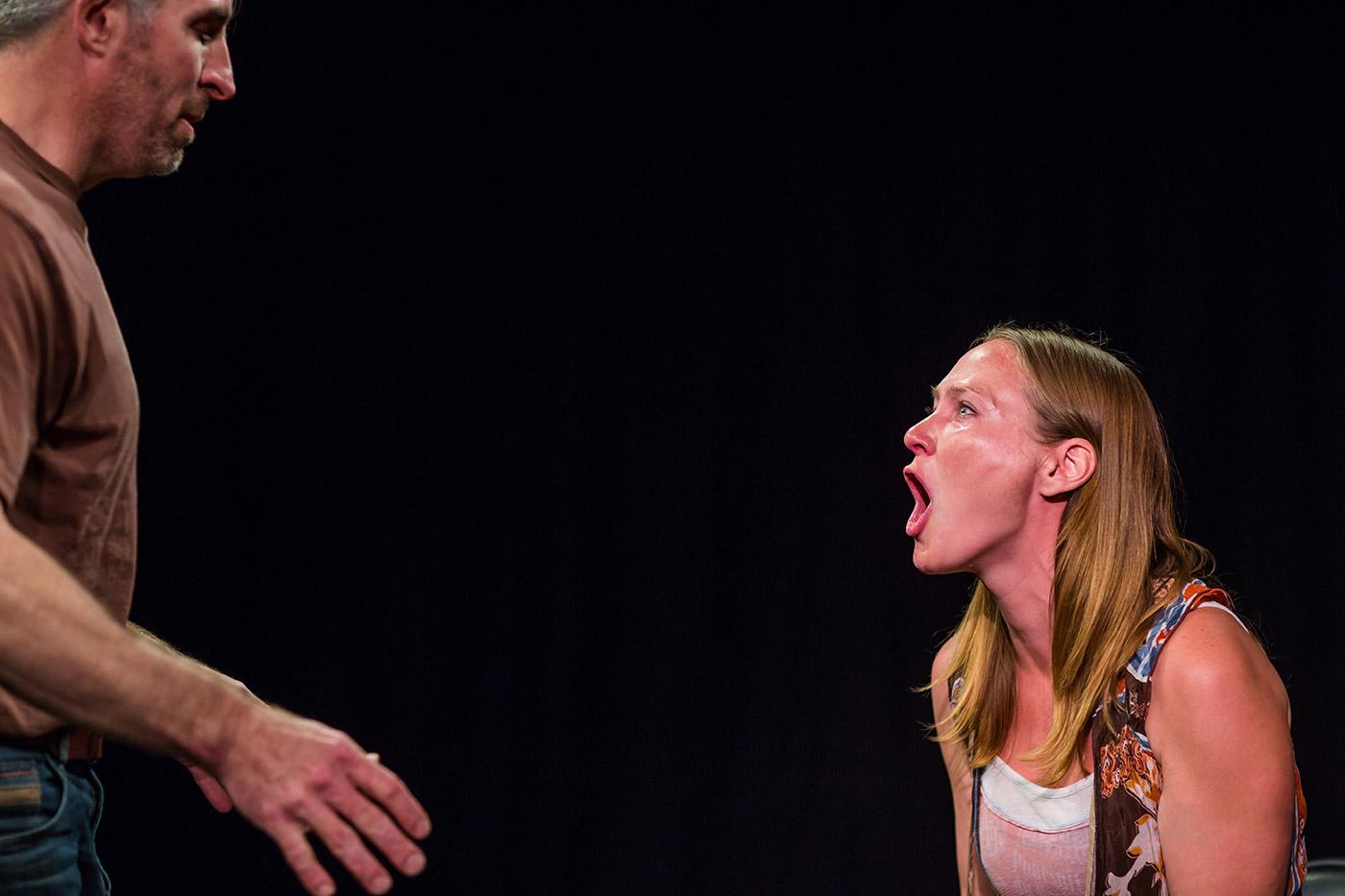 Actors doing Meisner repetitions