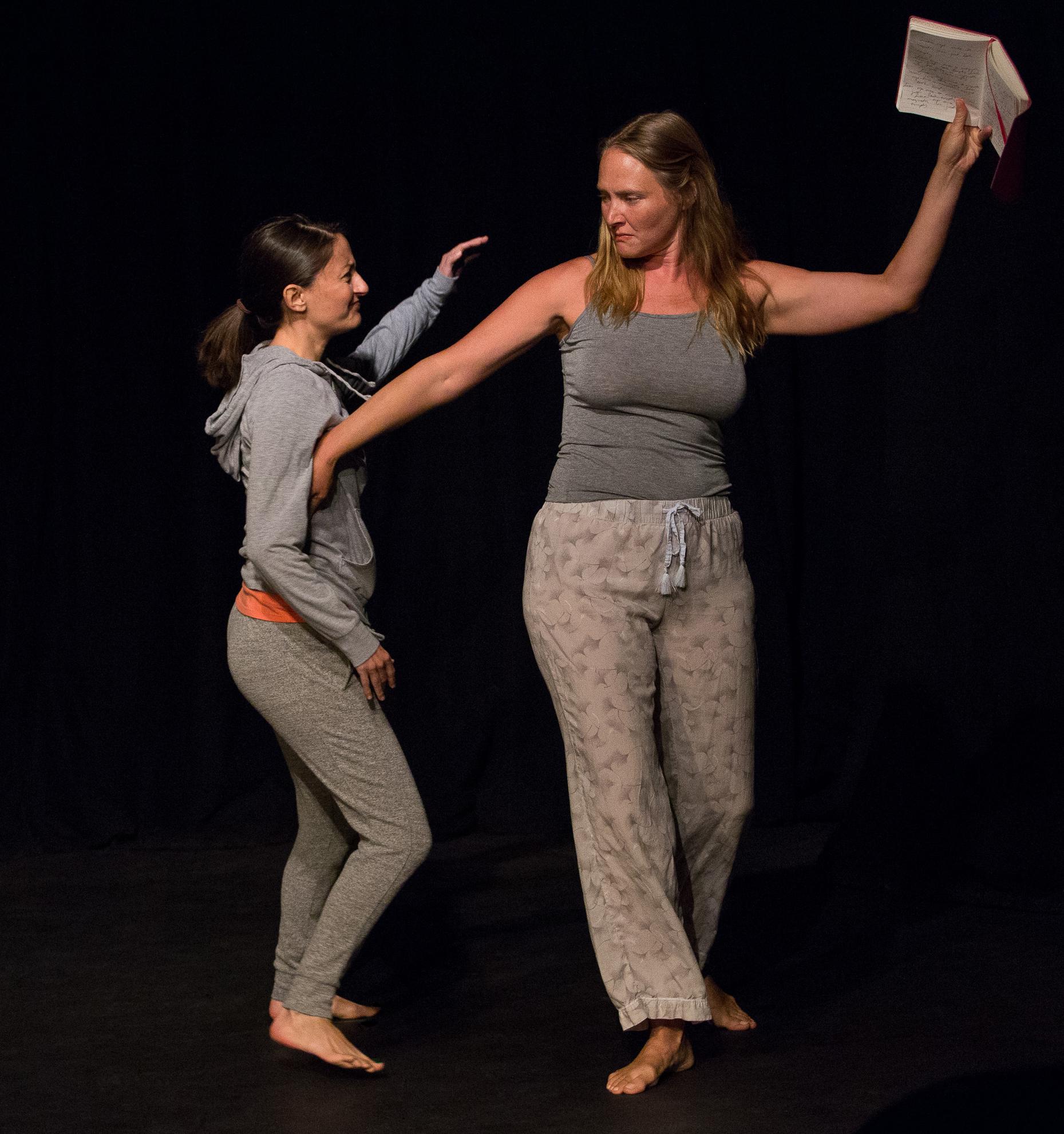 Actors performing a scene